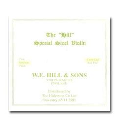 Hill 4/4 Violin E String - Medium Gauge - Steel - Loop-End